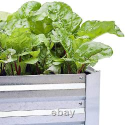 Galvanized Raised Garden Bed for Vegetables Large Metal Planter Box (8x4x1ft)