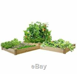 Garden Bed Frame Planters Outdoor Clearance Large 2 Tiers Raised Cedar Herbs Box