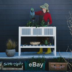 Garden Flower Bed Elevated Plant Vegetable Planter Herb Box New Raised TABLE pot