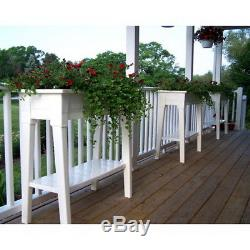 Garden Planter Large Yard Box Raised Resin Elevated Herb Flower Plant Tall Bed