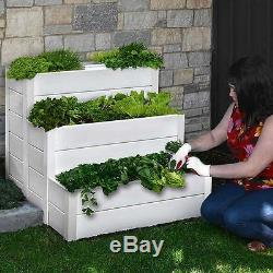 Garden Pots And Planters Cascading Patio Raised Composting Bed Flower Display