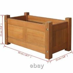 Garden Raised Bed Acacia Wood Outdoor Patio Planter Containers Pot Multi Size