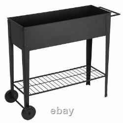 Garden Raised Bed Elevated Planting Flower Box Vegetable Planter Herb with Handle