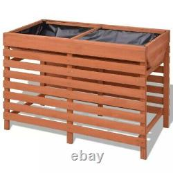 Garden Raised Bed Outdoor Planter Box with Legs for Vegetable/Flower Herb Wooden
