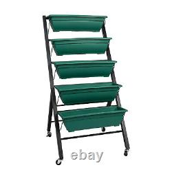 Garden Vertical Herb Planter Elevated Raised Bed Vegetable Flower With 5 Boxes