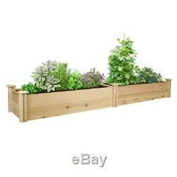 Greenes Fence 16 in. X 8 ft. X 11 in. Premium Cedar Raised Garden Bed