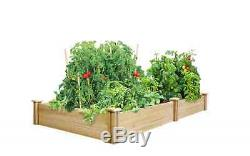 Greenes Fence 4 ft. X 8 ft. X 10.5 in. Cedar Raised Garden Bed Vegetable Planter