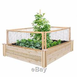 Greenes Fence Outdoor Homes 48x48x10.5-Inch CritterGuard Cedar Raised Garden Bed