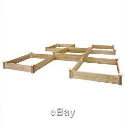 Greenes Fence Raised Bed Garden Kit Dovetail Expandable Square Wood Outdoor New