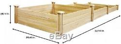 Greenes Fence Raised Garden Bed 4 ft. X 12 ft. Stair-Step Wood Cedar Natural
