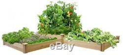 Greenes Fence Raised Garden Bed Two Tiers Dovetail Rectangle Expandable Wood New