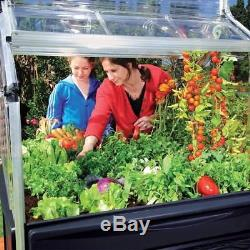 Greenhouse Aluminum Frame Outdoor Plant Garden Polycarbonate 4 x 4 Raised Bed