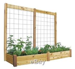 Gronomics 34X95X80 Unfinished Raised Garden Bed with Trellis Kit RGBTTK34-95