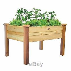 Gronomics 34x48x32-Inch Outdoor Homes Standing Raised Garden Planters Table Bed