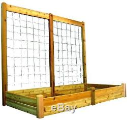 Gronomics 48 In. X 95 In. X 13 In. Raised Garden Bed With 95 In. W X 80 In. H