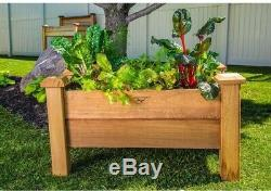 Gronomics Planter Box 18 in. X 34 in. X 19 in. Large Rustic Style Wood Outdoor