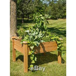 Gronomics Red Cedar Rustic Elevated Garden Bed 34 x 48 x 32 Inches, Finished