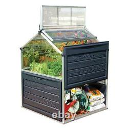 Grow Plants Inn Polycarbonate Greenhouse 4 ft. X 4 ft. Mini Garden Raised Bed