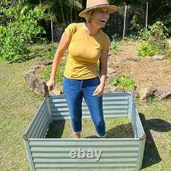 Grow Raised Garden Bed Outdoor Above Ground Planter Box for Vegetables Flowers