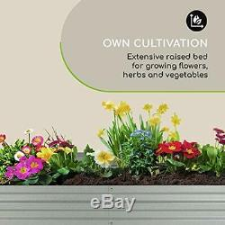 High Grow Straight Raised Bed Garden Flowers, Herbs Vegetables Expandable 250