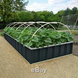 KING BIRD 68''x35.5''x11.8'' Raised Garden Bed Planter Kit Box Grey