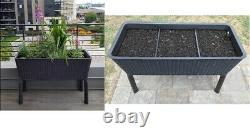 Keter Easy Grow 31.7 Gallon Raised Garden Bed with Self Watering Planter Box