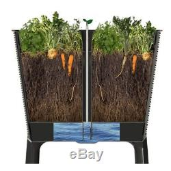 Keter Easy Grow Patio Outdoor Raised Elevated Garden Bed Flower Plant Planter