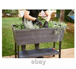 Keter XL Urban Bloomer Resin Elevated Planter Raised Garden Bed FREE SHIPPING