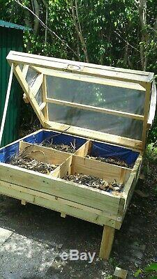 L Covered Pest Free Custom Made Wood Raised Vegetable Garden Bed Planter Box