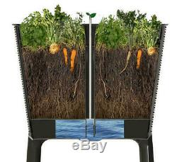 Large 44 Rattan Resin Elevated Garden Bed Backyard Herb Flower Planter