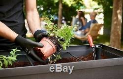 Large Elevated Resin Box Planter Raised Garden Flower Bed Drainage Plug Urban