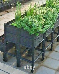 Large Raised Elevated Garden Bed Planters Containers With 14 Deep Planter Box