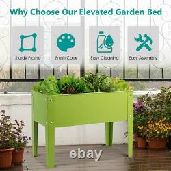 Large Raised Garden Bed Box Planter Outdoor Elevated Plant Flowers Vegetables