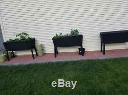 Large Raised Garden Bed Deck Patio Elevated Flower Vegetable Herb Plant Planter