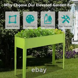 Large Raised Garden Bed Elevated Planter Box Flower Vegetable Stand Outdoor NEW