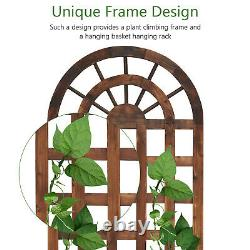 Large Raised Garden Bed with Trellis Vertical Planter Box for Climbing Set of 2