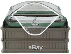 Lifetime 4 ft. X 4 ft. Two Raised Garden Beds with One Tent Enclosure