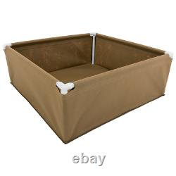 Living Soil Fabric Raised Garden Bed (4' x 4') with Midrange Drip Tape Water Kit