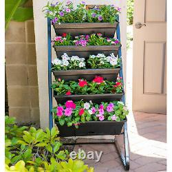 MCYOHA Vertical Garden Planter Box Outdoor Elevated Raised Bed Vegetable Flower