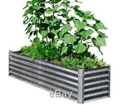 Metal Elevated Garden Bed Raised Planter Vegetable Fruit Herb Flower Plant Box