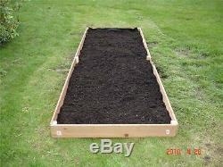 New 3x12 Cedar Raised Planter Elevated Flower Bed Garden Nearly 6 Inches Tall