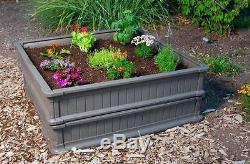 New 4 ft. X 4 ft. Two Brown Square Raised Garden Beds with One Tent Enclosure