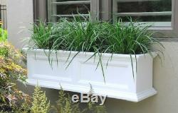 New Fairfield Window Box 3FT White Planter Outdoor Decor Hanging Flower Pot