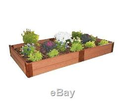 New One Inch Series 4 ft. X 8 ft. X 11 in. Wood Composite Raised Garden Bed Kit