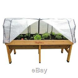 New Outdoor 1.8M Large Planter & Cover Greenhouse Raised Bed Frame Winter Garden