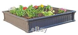 New Two 4' x 4' Raised Garden Bed 9 Tall Boxes with 1 Clear Vinyl Enclosure