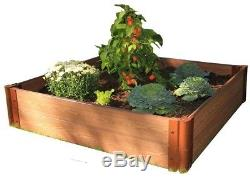 One Inch Series 4 Square ft. Composite Raised Garden Bed Kit Expandable Natural