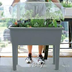 Outdoor Gardening Planting Raised Bed Garden Container Gray Buzzy