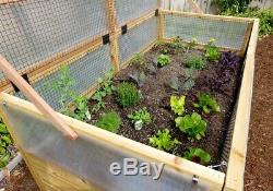 Outdoor Living Today 6x3 Raised Cedar Garden Bed with Greenhouse Kit