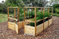 Outdoor Living Today Garden in a Box Raised Bed with Deer Fence Kit 8 x 12 ft